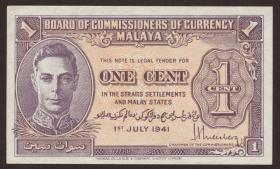 Malaya P.06 1 Cent 1941 (1/1-)