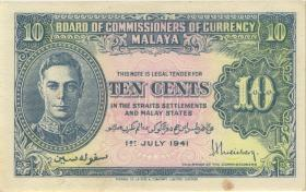 Malaya P.08 10 Cents 1941 (2)
