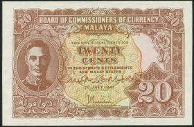 Malaya P.09b 20 Cents 1941 (1)
