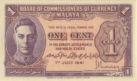 Malaya P.06 1 Cent 1941 (1)