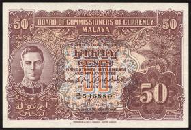 Malaya P.10b 50 Cents 1941 (1)