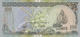 Malediven / Maldives P.22b 100 Rufiyaa 2000 (1)