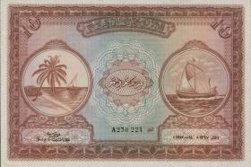 Malediven / Maldives P.05a 10 Rupien 1947 (1)