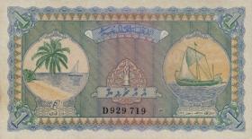 Malediven / Maldives P.02b 1 Rupie 1960 (1)