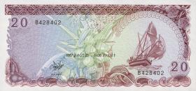 Malediven / Maldives P.12b 20 Rufiyaa 1987 (1)