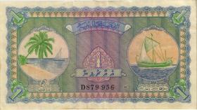 Malediven / Maldives P.02b 1 Rupie 1960 (3)