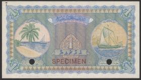 Malediven / Maldives P.02as 1 Rupie 1947 Specimen (1)