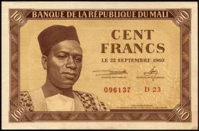 Mali P.02 100 Francs 1960 (1/1-)