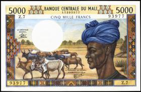Mali P.14e 5000 Francs (1972-84) (1)
