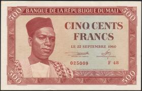 Mali P.03 500 Francs 1960 (2+)