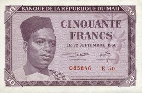 Mali P.01 50 Francs 1960 (1)