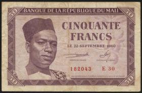 Mali P.01 50 Francs 1960 (3)