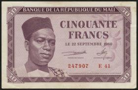 Mali P.01 50 Francs 1960 (1-)