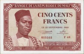 Mali P.03 500 Francs 1960 (1)