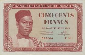 Mali P.03 500 Francs 1960 (1/1-)