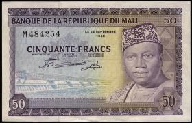 Mali P.06 50 Francs 1960 (3/2)