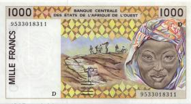 West-Afr.Staaten/West African States P.411De 1000 Francs 1995 (1) Mali