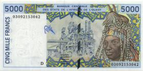 West-Afr.Staaten/West African States P.413Dl 5000 Francs 2003 (1) Mali