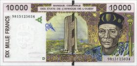 West-Afr.Staaten/West African States P.414Df 10000 Francs 1998 Mali (1)