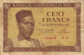 Mali P.02 100 Francs 1960 (3)