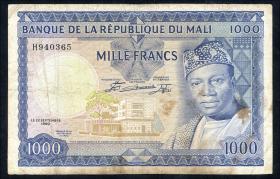 Mali P.09 1000 Francs 1960 (3-)