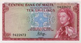 Malta P.28 10 Shillings 1967 (1)