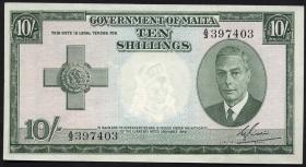 Malta P.21 10 Shillings 1949 (1951) (1)