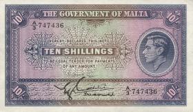 Malta P.19 10 Shillings (1940) (1)