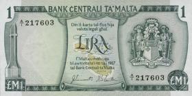 Malta P.31a 1 Lira 1967 (1973) (1)