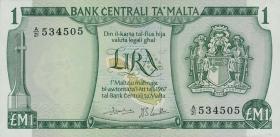 Malta P.31c 1 Lira 1967 (1973) (1)