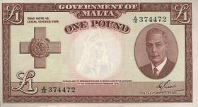 Malta P.22 1 Pound 1949 (1951) (1)