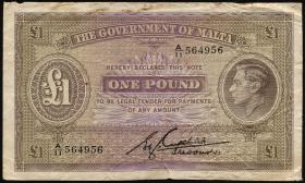 Malta P.20b 1 Pound (1943) (4)