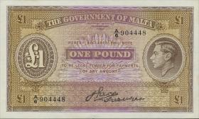 Malta P.20a 1 Pound (1943) (1)