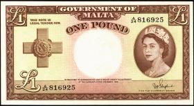 Malta P.24b 1 Pound 1949 (1954) (1)