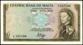 Malta P.29 1 Pound 1967 (1/1-)