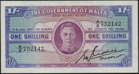 Malta P.16 1 Shilling (1943) (1/1-)