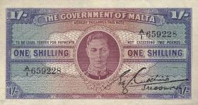 Malta P.16 1 Shilling (1943) (2+)