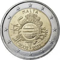 Malta 2 Euro 2012 Euro-Bargeld