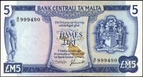 Malta P.32 5 Liri 1967 (1973) (1)