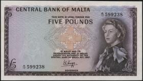Malta P.30 5 Pounds 1967 (1)