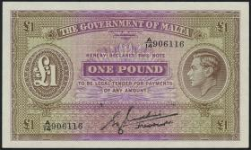 Malta P.20b 1 Pound (1943) (1)