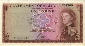 Malta P.26 1 Pound (1963) (3+)