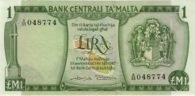 Malta P.31b 1 Lira 1967 (1973) (2)