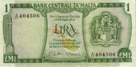 Malta P.31e 1 Lira 1967 (1973) (3)