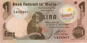 Malta P.34b 1 Lira 1967 (1979) (3)