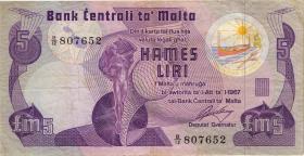 Malta P.35a 5 Liri 1967 (1979) (3)