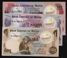 Malta P.34/36a 1 - 10 Liri (1979) Specimen LOT (1)