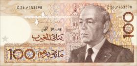 Marokko / Morocco P.65a 100 Dirhams 1987 (1)