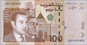 Marokko / Morocco P.70 100 Dirhams 2002 (2004) (1)