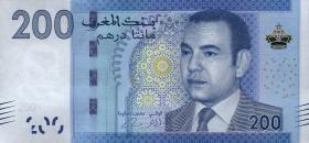 Marokko / Morocco P.77 200 Dirhams 2012 (1)